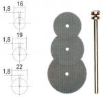 Отрезные диски, набор из 3 шт