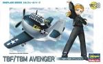 60138 Модель самолета Egg Plane TBF/TBM Avenger (HASEGAWA)