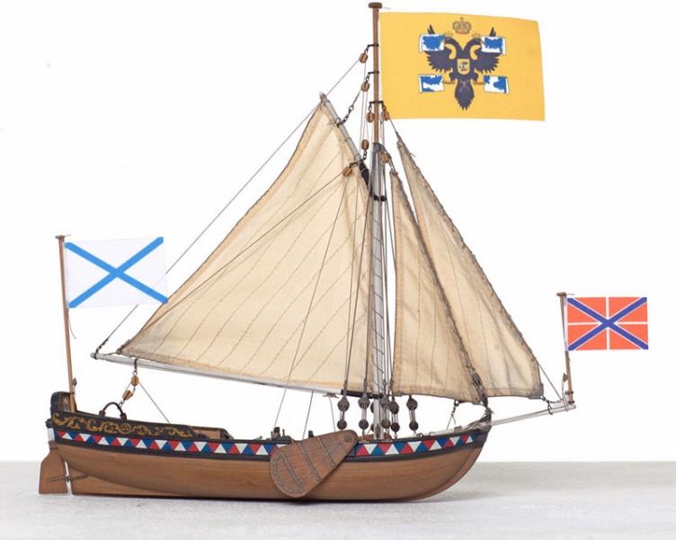 Сборная деревянная модель Ботик Петра I